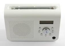 White digital radio. Modern digital radio isolated on white shot from high angle Royalty Free Stock Photos