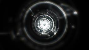 White digital tunnel stock video