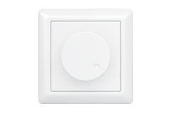 White Dimmer Light Switch Stock Photography