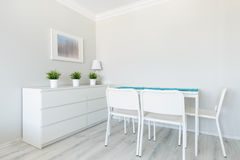 White dining room Stock Images