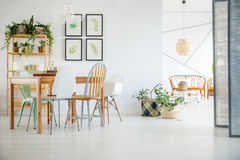 White dining room Royalty Free Stock Photography