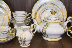 White dining tableware set Royalty Free Stock Photography