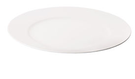 White Dinner Plate II Stock Photos