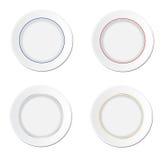 Empty white dinner plates Stock Photos