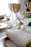 The white dinner table 2 Royalty Free Stock Image
