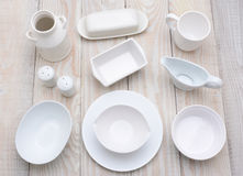 White Dinnerware Royalty Free Stock Images