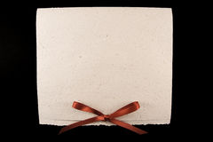 White diploma with red ribbon Royalty Free Stock Photos
