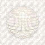 White disco ball on white mosaic background Stock Images