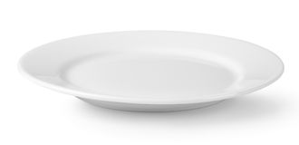 White dish Stock Images