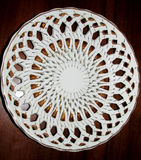 White dish with golden ornament Stock Photo
