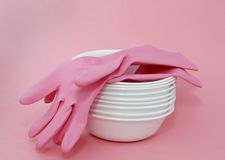 White dishes Royalty Free Stock Photo
