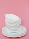 White dishes Royalty Free Stock Image