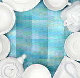 White dishes Stock Image