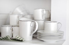 White dishes Royalty Free Stock Images