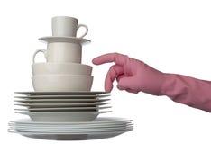 White Dishes Kitchen Stock Image