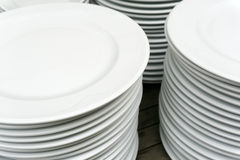 White Dishes Royalty Free Stock Photos