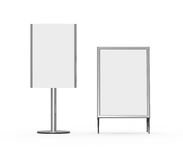 White Display Advertising Stand Royalty Free Stock Image