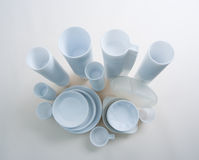 White Disposable Dishes Royalty Free Stock Images
