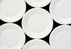 White disposable plate Royalty Free Stock Photos