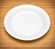 White disposable plates Royalty Free Stock Image