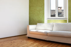 White divan, interior Stock Photos