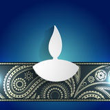 White diwali diya Royalty Free Stock Images