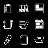White Document Office Icons. This is file of EPS10 format Stock Photography