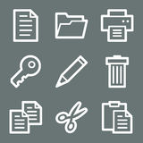 White document web icons Stock Image