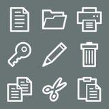 White document web icons Stock Image