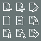 White document web icons set 2 Royalty Free Stock Photo