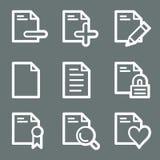 White document web icons set 2 Royalty Free Stock Photo