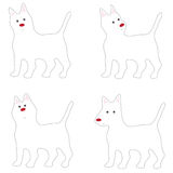 White Dog Acting Cute cartoon Stock Photography