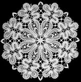 White doily with lace Stock Images