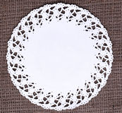 White doily Royalty Free Stock Image