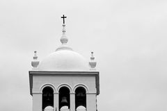 White dome with cross in puerto de la cruz, tenerife, canary islands. White dome with cross in puerto de la cruz in tenerife, canary islands, spain, europe Royalty Free Stock Photos