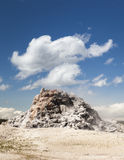 White Dome Geyser. With clouds, Yellowstone National Park, Wyoming, USA stock images