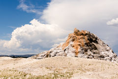 White Dome Geyser Dormant Yellowstone National Park Geothermal Stock Photos
