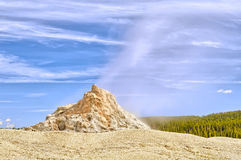 White Dome Geyser. Low Geyser Basin, Yellowstone National Park, Wyoming stock images