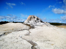 White Dome Geyser. In Lower Geyser Basin, Yellowstone National Park (USA Stock Photos