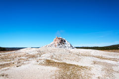 White Dome Geyser. Seen from the Firehole Lake Drive in Yellowstone National Park Stock Image