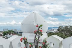 White dome of the mosque in Jakarta, Jawa, Indonesia. White dome of the mosque in Jakarta, Jawa stock images