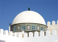 The white dome of the mosque in Kairouan Stock Images