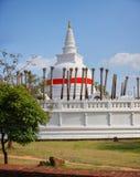 White Dome of Thuparamaya in Anuradhapura Royalty Free Stock Photo