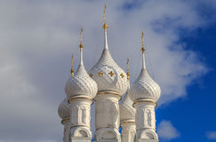 White domes of Russian Orthodox church Stock Photography