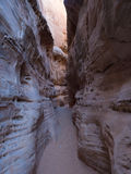White Domes Slot Canyon Royalty Free Stock Photo