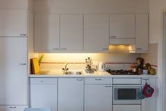 White domestic kitchen Stock Photos