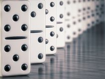 White domino Royalty Free Stock Photography