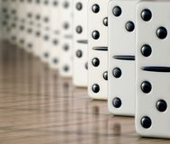 White domino Stock Photo