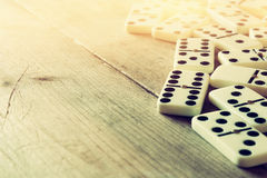 White domino blocks. executive and risk control concept Stock Photography