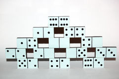 White domino stones royalty free stock images